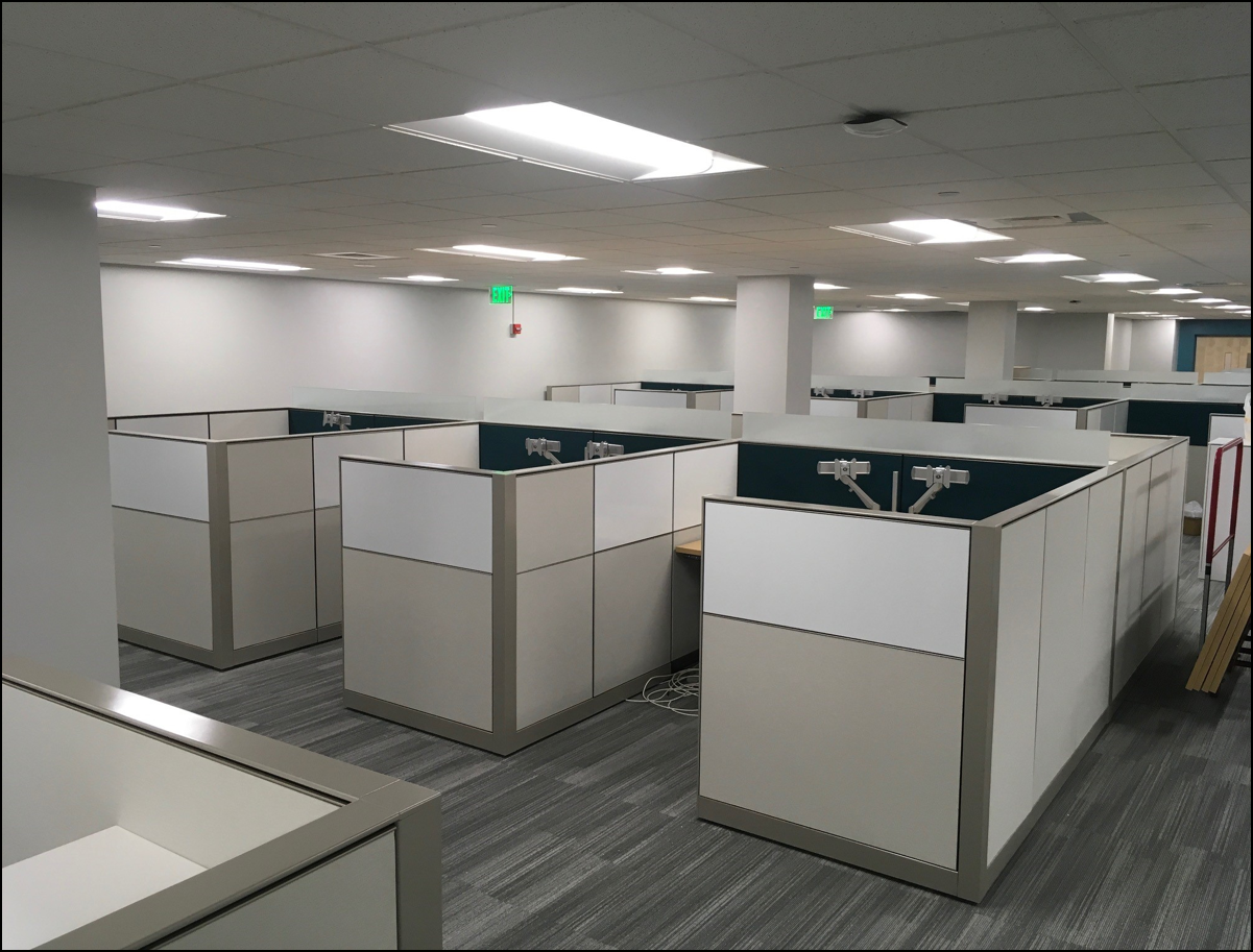 May 2018 - Ground Floor Paterno Cubicle and Furniture Installation