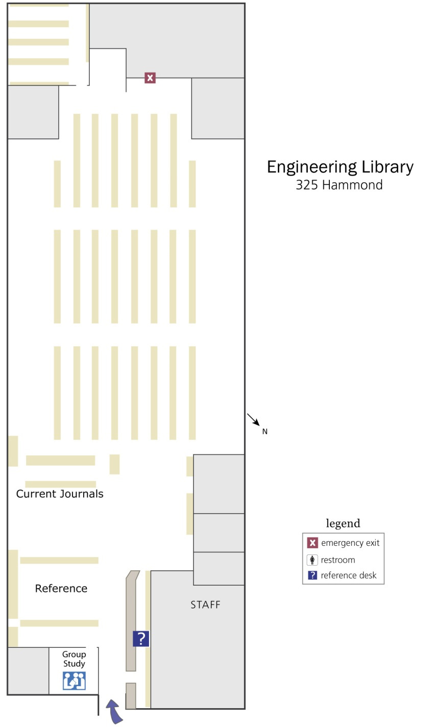 Engineering Library floorplan
