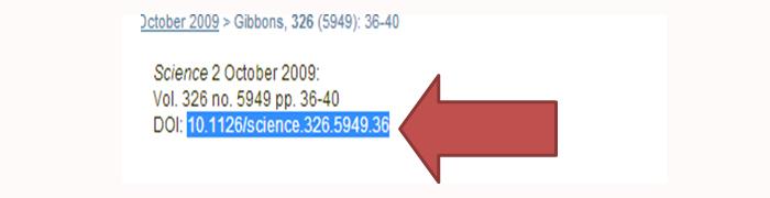 Screenshot Science Database