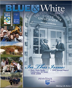 Cover Blue & White with Perkins
