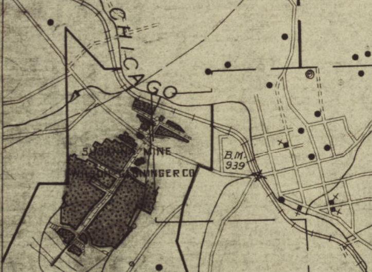 Bituminous Coal Mine Map