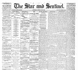 Gettysburg Civil War Era newspaper