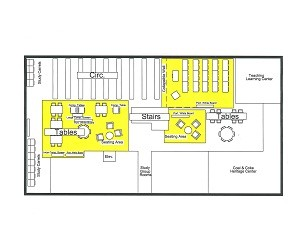 Fayette Library Floorplan - Downstairs