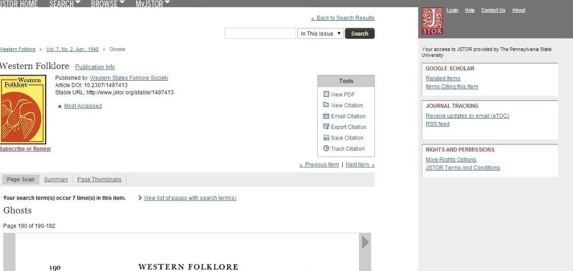 JSTOR Link.