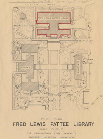 layout sketch Pattee Library