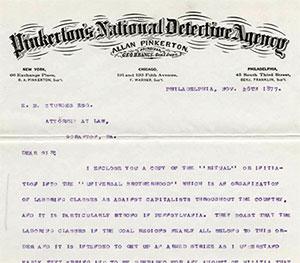 Pinkerton Report - Scranton Strikes