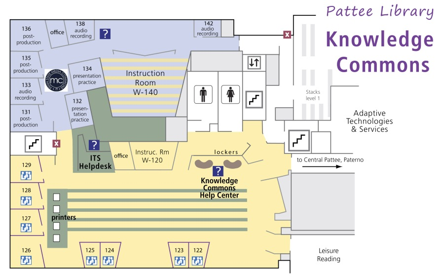 Knowledge Commons floor map