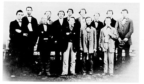 Photograph of Penn State's first graduating class, 1861