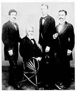 Photograph of James Calder with the 1877 graduating class, which included his son, A. Russell Calder (second from right)