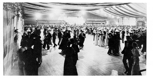 Students dancing to the Big Band sound at the Senior Ball of 1936.