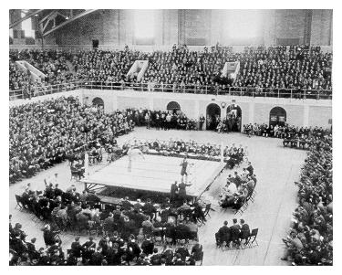 Boxing in Recreation Hall, 1930s
