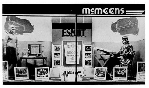 ESMWT advertisement in a Lewistown storefront