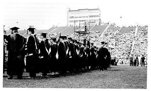 1967 commencement at Beaver Stadium