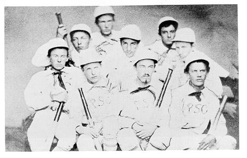old black and white photograph of baseball team members