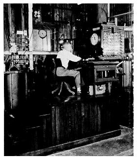 old black and white photograph of Penn State Calorimeter