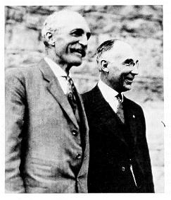 old black and white photograph of John Thomas and Gifford Pinchot