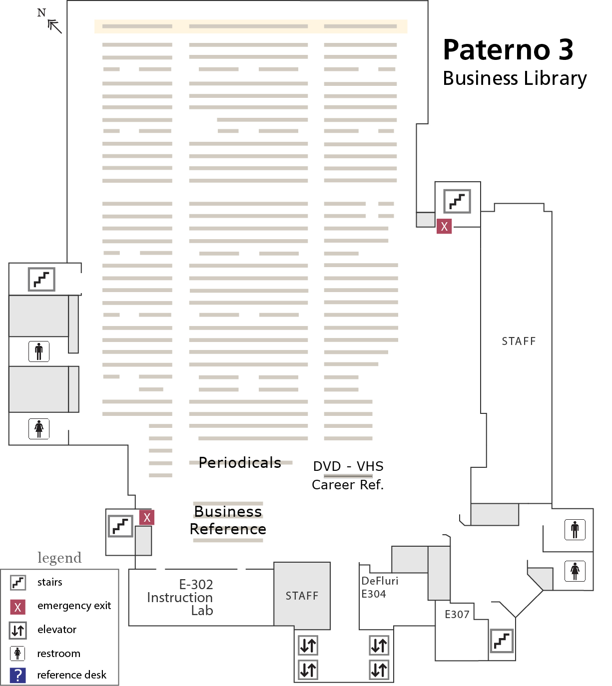 Paterno 3rd floor map