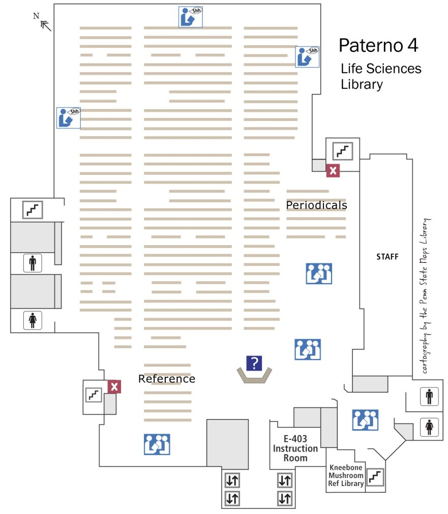 Paterno 4th floor map