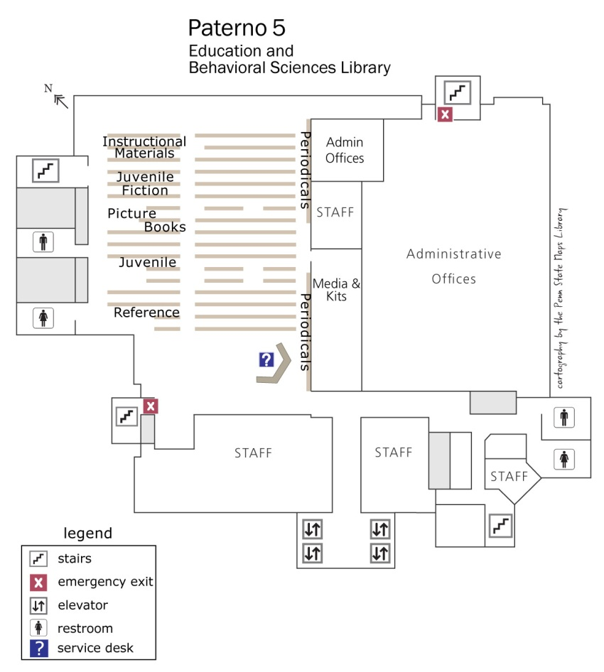 Paterno 5th floor map