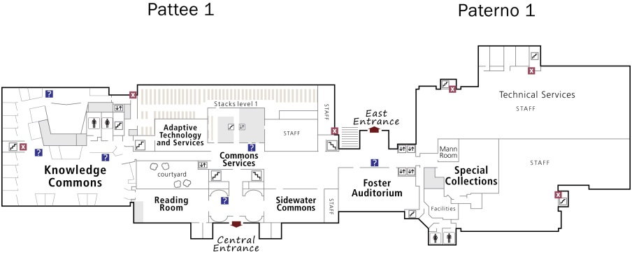 Paterno and Pattee first floor map