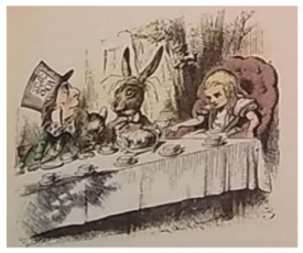 Image from Alice's Adventures in Wonderland.