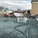December 2018 - Pattee Library Interior Courtyard Roof Finish Coating