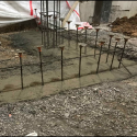 December 2018 - Pattee Library Interior Courtyard Prep for Courtyard Stair Footers