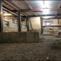 December 2018 - Pattee Library Interior Courtyard Foundation Wall for Stairs
