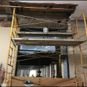 December 2018 - Pattee Library Interior Courtyard Central Corridor Demolition