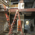 January 2019 - Pattee Library Interior Courtyard Central Stairs