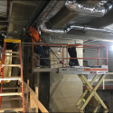 February 2019 - Pattee Library Interior Courtyard Ductwork