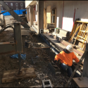 February 2019 - Ground Floor West Pattee South Wall Storefront Masonry Work