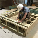 April 2019 - Pattee Library Interior Courtyard Planter Frame