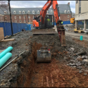 April 2019 - West Pattee Terrace Excavation for Seat Wall