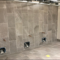 April 2019 - Ground Floor West Pattee Completed Tiling in Women's Restroom