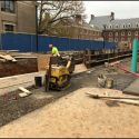 April 2019 - West Pattee Terrace - Forming the Seat Wall