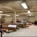 May 2019 - Pattee Library Interior Courtyard Immersive Lab Prep Work