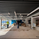 May 2019 - Ground Floor West Pattee Baffle Ceiling Completed