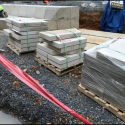 May 2019 - West Pattee Terrace Delivery of Sandstone for Seat Wall