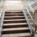 June 2019 -  Pattee Library Interior Courtyard Central Stair Handrails