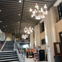 July 2019 -  Pattee Library Interior Courtyard Chandeliers