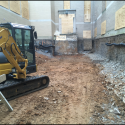 June 2018 - Pattee Library Interior Courtyard Excavation