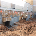 June 2018 - Pattee Library Interior Courtyard Underpinning Nearing Completion
