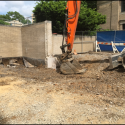 June 2018 - West Pattee Ground Floor Terrace Demolition and Excavation at Stairs